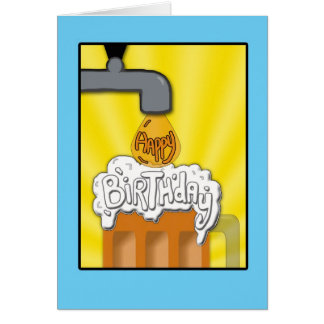 A Happy Birthday On Tap Card