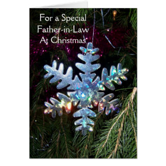 A Happy Christmas Father-in-Law Card Snowflake