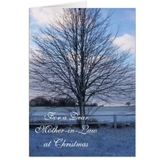 A Happy Christmas Mother-in-Law Card Snow