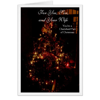 A Happy Christmas Son and Daughter-in-Law Card