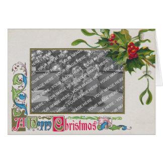 """A Happy Christmas"" Vintage Photo Frame Card"