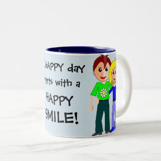 A HAPPY Day starts with a HAPPY SMILE Cute Mug
