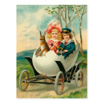A Happy Easter To You Eggshell Car Postcard