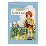 """""""A Happy Easter"""" Vintage Greeting Card"""