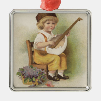 A Happy EasterBoy with Egg Shell Guitar Christmas Ornament