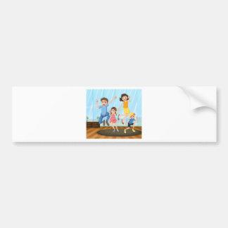 A happy family bumper sticker