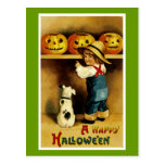 A Happy Halloween Postcard
