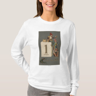 A Happy New YearGnomes Throwing Money T-Shirt