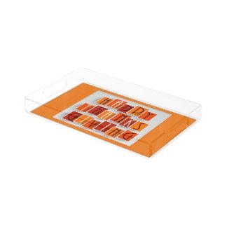 A Happy Thanksgiving Acrylic Tray