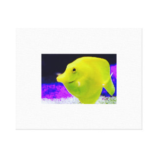 A Happy Yellow Fish -Original digital art Stretched Canvas Prints