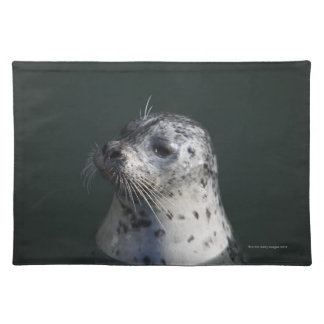 A harbor seal placemat