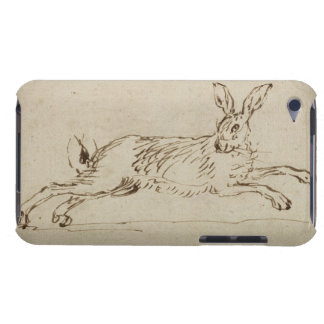 A Hare Running With Ears Pricked pen ink on pa iPod Touch Cover