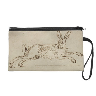 A Hare Running, With Ears Pricked (pen & ink on pa Wristlet