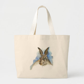 A Hare, watercolor pencil Large Tote Bag