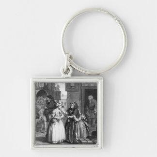A Harlot's Progress Silver-Colored Square Key Ring