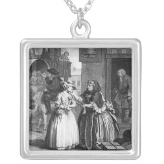 A Harlot's Progress Silver Plated Necklace
