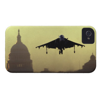 A Harrier jet landing on the Mall at dawn with iPhone 4 Cases
