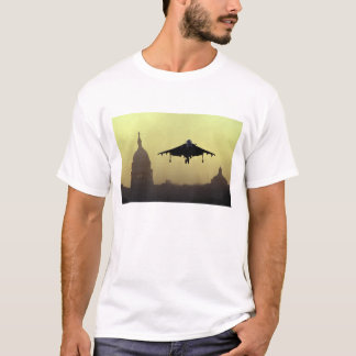 A Harrier jet landing on the Mall at dawn with T-Shirt