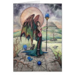 A Harvest Moon Gothic Faery Fantasy Art Greeting Cards