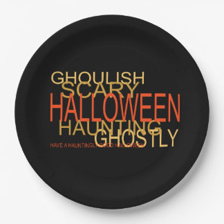 A Haunting Halloween Halloween Party Paper Plates
