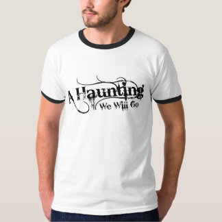 A Haunting We Will Go LLC Black Logo Back T-Shirt