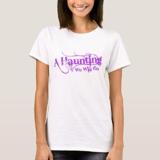 A Haunting We Will Go LLC Purple Logo Front T-Shirt