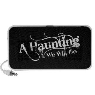 A Haunting We Will Go LLC White Logo Mp3 Speaker