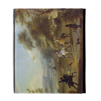 A Hawking Party, c.1690 (oil on canvas) iPad Folio Covers