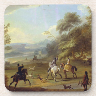 A Hawking Party, c.1690 (oil on canvas) Coaster