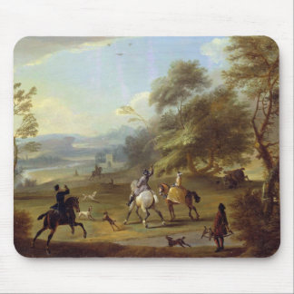 A Hawking Party, c.1690 (oil on canvas) Mouse Pad