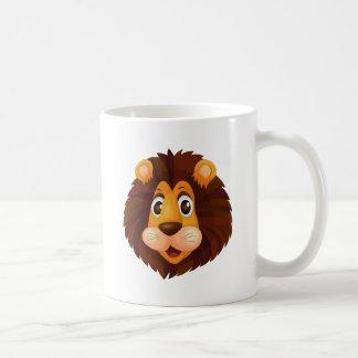 A head of a lion basic white mug