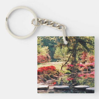 A Healing Path & A Healing Place Double-Sided Square Acrylic Key Ring
