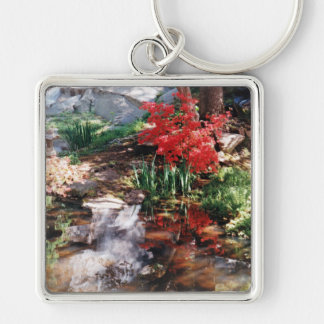 A Healing Place Silver-Colored Square Key Ring
