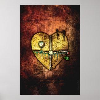 A Heart Less Broken Gothic Art Poster