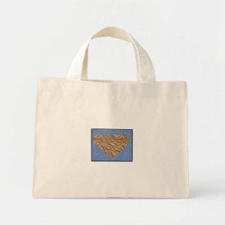 a heart mini tote bag