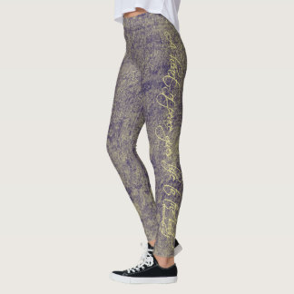 """A heart of peace gives life to the body"" leggings"