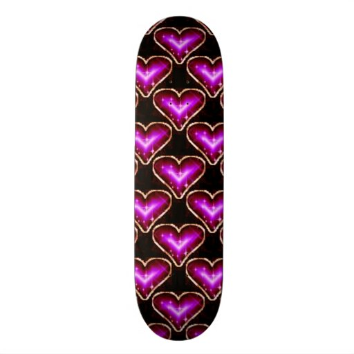 A Heart Pattern 2 Skate Board