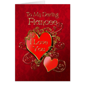 A heart to give to show your love for your fiancee card