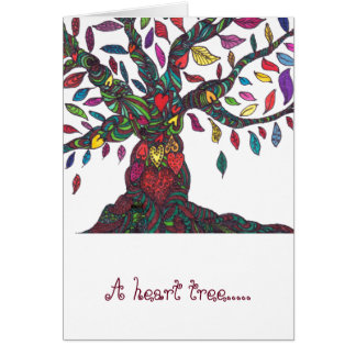 A heart tree - for you card