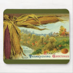A Hearty Thanksgiving; Indian Corn and Haystacks Mouse Pad