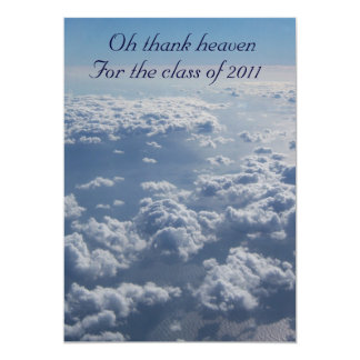 A heavenly graduation invitation