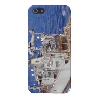 A helicopter clears the flight deck case for the iPhone 5