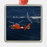 A helicopter crew trains christmas ornament