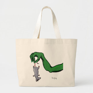 A helping hand large tote bag
