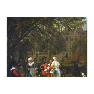 A Herb Market in Amsterdam Canvas Print