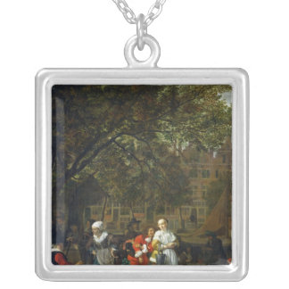 A Herb Market in Amsterdam Silver Plated Necklace