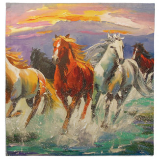 A herd of horses napkin