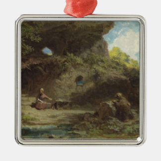 A Hermit in the Mountains Christmas Ornament
