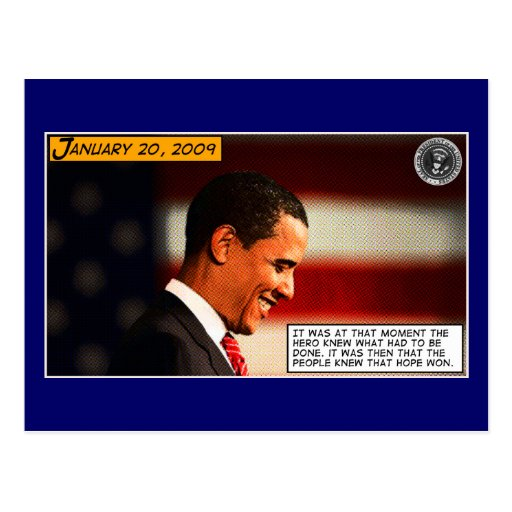 a hero was born postcard