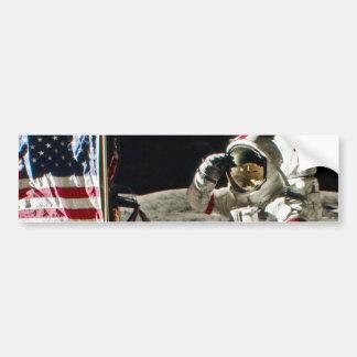 A Hero's Salute From Apollo 17 Bumper Sticker